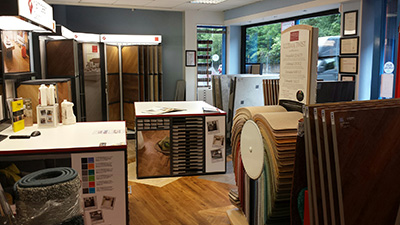Our incredible flooring showroom in Glasgow