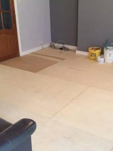 Plywood is then joined together for the flooring