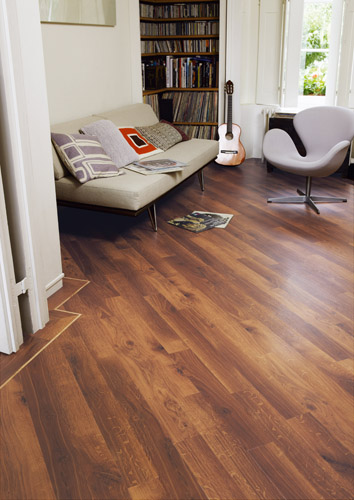 Karndean Luxury Wood Effect flooring in a living room setting