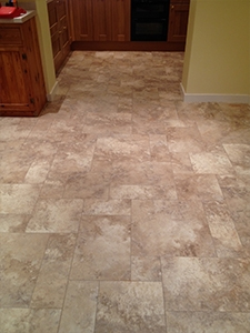 Karndean luxury flooring laid in square and rectangle patterns