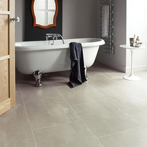 Karndean luxury stone effect tiles in a bathroom setting